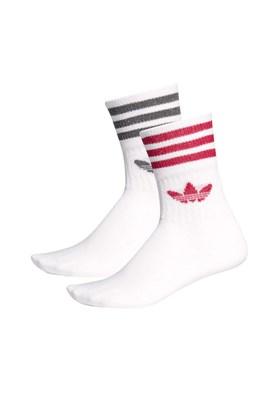 Meia Adidas Mid Cut Gliter 2 Pares Branca