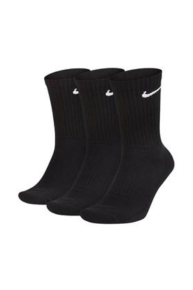 Meia Nike Cano Alto Everyday Cushion Crew (3 pares) Preta