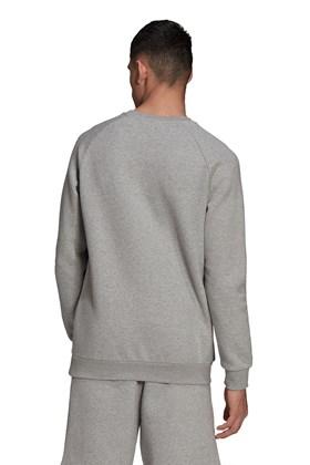 Moletom Adidas Adicolor Essentials Trefoil Crewneck Cinza/Branco