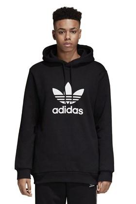 Moletom Adidas Capuz Warm-Up Trefoil Preto