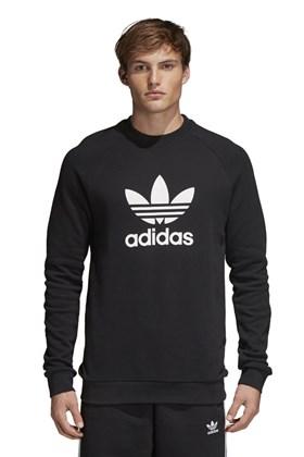 Moletom Adidas Careca Warm-Up Trefoil Preto