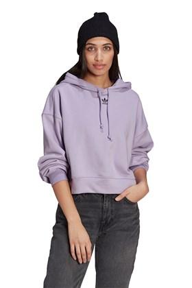 Moletom Adidas Hoodie Capuz Feminino Lilas/Preto