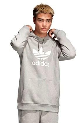 Moletom Adidas Trefoil Capuz Cinza