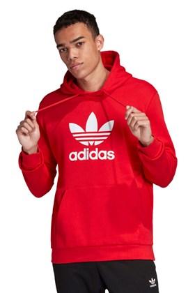 Moletom Adidas Trefoil Capuz Vermelho