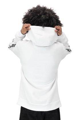 Moletom New Balance Canguru Capuz Branco