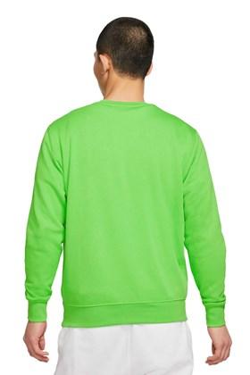 Moletom Nike Club Crew French Verde/Branco