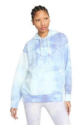 Moletom Nike Icon Clash Feminino Azul/Branco