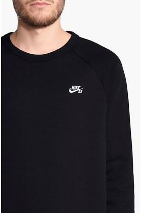 Moletom Nike SB Icon Crew Careca Preto