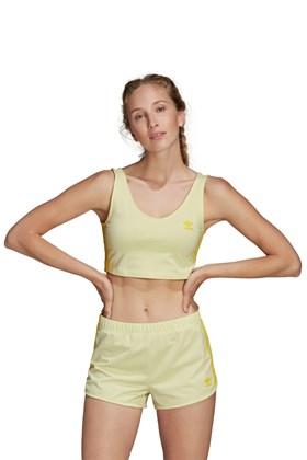 Regata ADIDAS Cropped Feminino Amarelo