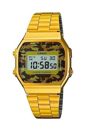Relógio Casio Vintage Dourado Camuflado A168WEGC-3DF