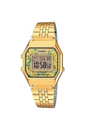Relógio Casio Vintage Dourado LA680WGA-9CDF