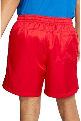 Short Nike Sportswear Woven Flow Vermelho/Branco