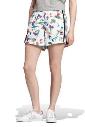 Shorts ADIDAS Cropped Allover Print Feminino Branco/Floral