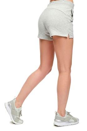 Shorts Puma Moletom Essentials Sweat Cinza