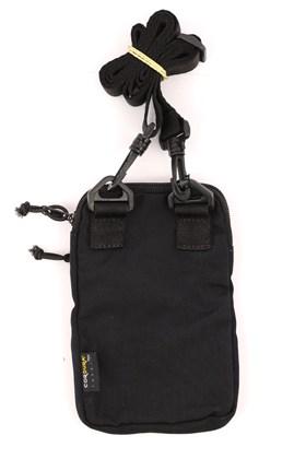 Shoulderbag IMPIE Slim CORDURA® 3M Preta/Refletiva