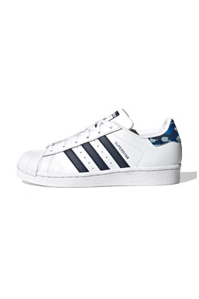 Tenis Adidas Superstar Branco/Azul/Tribal