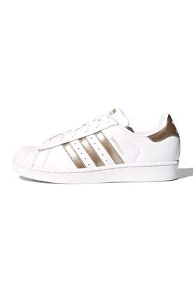 Tenis Adidas Superstar Feminino Branco/Dourado