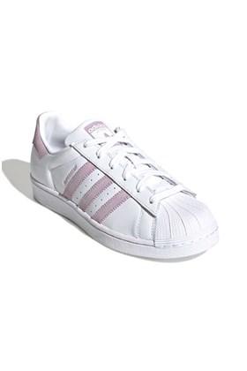 Tenis Adidas Superstar Feminino Branco/Rosa