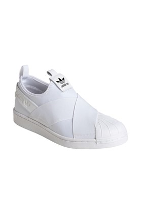 Tenis Adidas Superstar Slip-On Feminino Branco/Branco