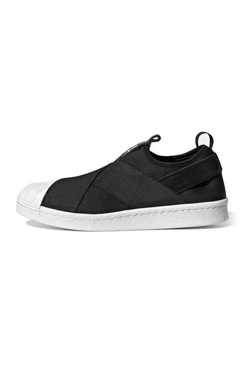 Tênis Adidas Superstar Slip On Preto/Branco