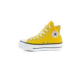 Tenis CONVERSE Chuck Taylor ALL STAR Lift Plataforma High Amarelo