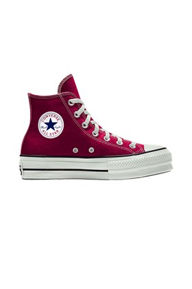Tenis Converse Chuck Taylor All Star Lift Plataforma High Bordo/Branco