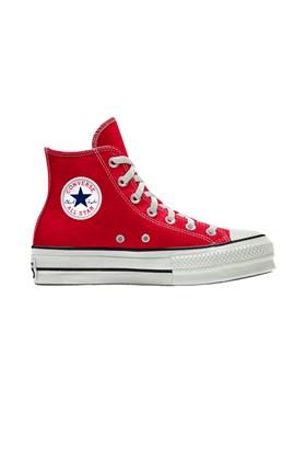 Tenis Converse Chuck Taylor All Star Lift Plataforma High Vermelho/Branco