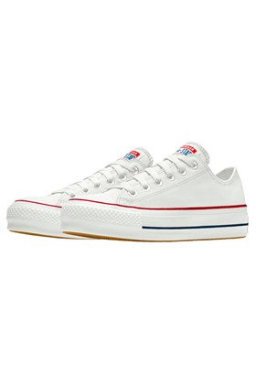 Tenis CONVERSE Chuck Taylor ALL STAR Lift Plataforma Low Branco/Branco