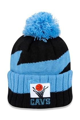 Touca Gorro New Era Cleveland Cavaliers Nba Global Collection  Azul/Preto
