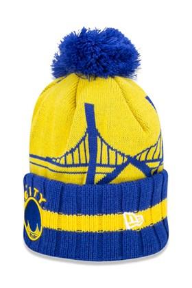 Touca Gorro New Era Golden State Warriors Nba Global Collection  Amarelo/Azul