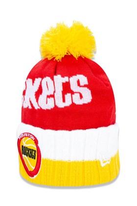 Touca Gorro New Era Houston Rockets Nba Global Collection  Amarelo/Vermelho