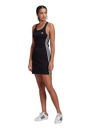 Vestido Adidas Costas Nadador Adicolor Classics Preto/Branco